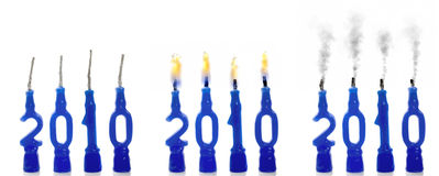 statusów 2010 świeczek Zdjęcie Royalty Free