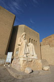 Status bij de ingang van Erbil-Citadel, Irak Stock Fotografie