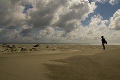 Status bij het strand stock foto's