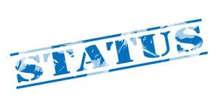 Status blue stamp. Isolated on white background Stock Image