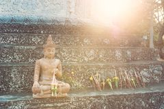 A status of buddy. In Thailand temple Stock Image