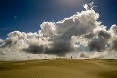 Status in de woestijn stock afbeeldingen