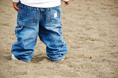 Status in het zand Royalty-vrije Stock Foto
