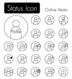 Status icon . Person icon with many status and text Royalty Free Stock Photography