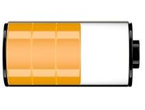 Status 60 Ikone der Batterie 3d Lizenzfreies Stockfoto