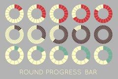 Status. Loading status icons, round progress bar Royalty Free Stock Images