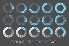 Status. Loading status icons, round progress bar Stock Photos