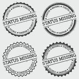 Status missing insignia stamp isolated on white. Stock Image