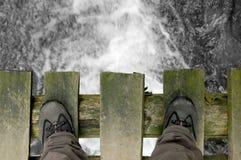 Status op de brug Stock Afbeelding
