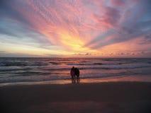 Status op het strand Stock Afbeelding