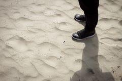 Status op zand Royalty-vrije Stock Afbeeldingen