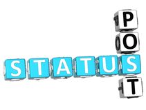 Status Post Crossword Stock Photos