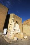 Status przy wejściem Erbil cytadela, Irak obrazy stock