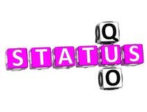Status Quo Crossword Royalty Free Stock Image