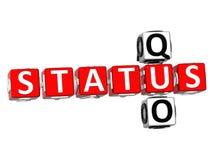 Status Quo Crossword Stock Images
