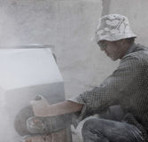 The status quo of some of the stone workers Royalty Free Stock Images