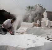 The status quo of some of the stone workers Stock Images