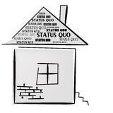 Status Quo words on home. Stock Image