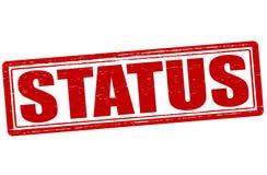 Status. Stamp with word status inside,  illustration Stock Image