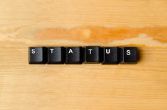 Status word. With keyboard buttons Royalty Free Stock Image