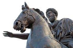 Statut équestre de Marcus Aurelius Rome, Italie Photos stock