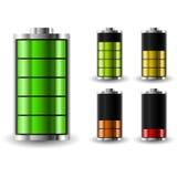 Statut de charge de batterie Recharge de l'accumulateur Photos stock