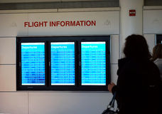 Statut de départs à l'aéroport de Chicago O'Hare Image libre de droits