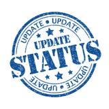 Statut de mise à jour Photos stock