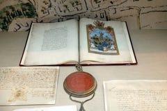 Statut der freien königlichen Stadt von Zagreb Stockbild