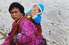 Statut des femmes au Bhutan Image libre de droits