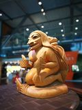 Statute in airport. Statute in Vancouver airport. first nation art Stock Images