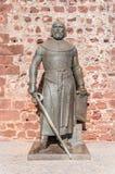 Statute of king Sancho I Royalty Free Stock Photo