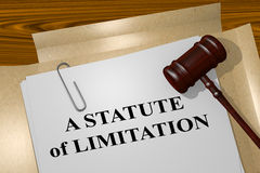 A Statute of Limitation concept Royalty Free Stock Photos