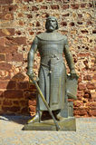 A statute of Sancho I King of Portugal Stock Photos