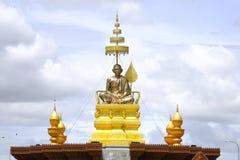 Statuto del chounnat di Samdach nella pagoda dell'argento di Royal Palace di festa dell'indipendenza della Cambogia Immagine Stock
