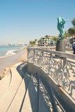 Statuto del Seahorse su Malecón in Puerto Vallarta immagini stock