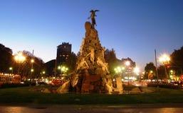 Statuto Quadrat in Turin, Italien Lizenzfreie Stockfotos