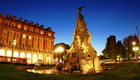 Statuto square in Turin, Italy Stock Image