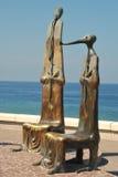 Statuts sur le Malecón dans Puerto Vallarta image libre de droits