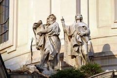 Statuy święty, kościół Święty imię Mary w Rzym Obraz Royalty Free