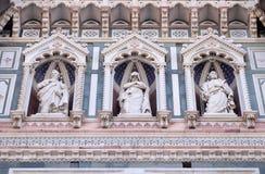 Statuy apostołowie, katedra święty Mary kwiat, Florencja Fotografia Royalty Free