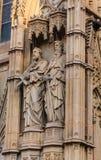 Statuy Dwa księdza na kościół Fotografia Stock