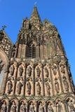Statuy Lichfield katedra, Staffordshire Obrazy Stock
