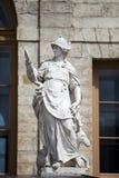 Statuy mądrość, pałac powikłany Gatchina i park, St Petersburg, Rosja, XVIII wiek (sprawiedliwość) obrazy royalty free