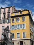 Statuy Milon De Crotone architektura Marseille obrazy stock