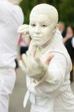Statuy podczas Międzynarodowego festiwalu Żywe statuy Obraz Royalty Free