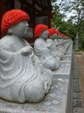 Statuy przy Japońską świątynią Zdjęcie Royalty Free