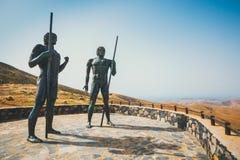 Statuy przy Mirador Corrales De Guize tworzyli Emiliano Hernandez Fotografia Stock
