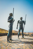 Statuy przy Mirador Corrales De Guize tworzyli Emiliano Hernandez Obraz Royalty Free