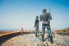 Statuy przy Mirador Corrales De Guize tworzyli Emiliano Hernandez Obrazy Royalty Free